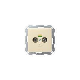 40501 GIRA POTENTIALAUSGLEICH- DOSE 2FACH SY STEM 55 CREMEWEISS Produktbild