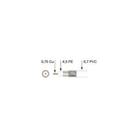 2200/500M PÖTZELSBERGER SAT-KOAXKABEL Messlänge VOLL-PE 6,7MM WS (KK 2200) Produktbild