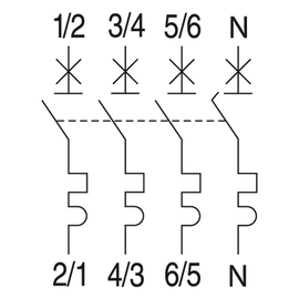566959 GE EP103C16N LEITUNGSSCHUTZSCH. 3POL. 16/3N/C 10KA ELFA PLUS Produktbild