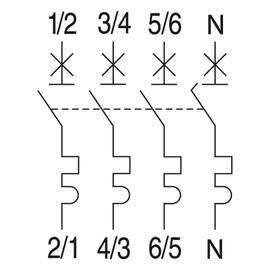 566962 GE EP103C32N LEITUNGSSCHUTZSCH. 3POL. 32/3N/C 10KA ELFA PLUS Produktbild