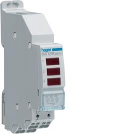 SVS127B HAGER 3FACH LED LEUCHTMELDER, ROT, 230V AC,QUICKCONNECT Produktbild