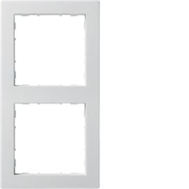 WYR120 HAGER 2-FACH RAHMEN PUR, BRILLIANTWEISS KALLYSTO Produktbild