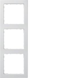 WYR130 HAGER 3-FACH RAHMEN PUR, BRILLIANTWEISS KALLYSTO Produktbild