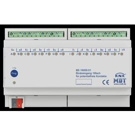 BE-16000.01 MDT KNX Binäreingang 16-fach 8TE Eingänge potentialfrei Produktbild