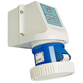119306 WALTHER WANDSTECKDOSE 16A 3P 230V 6H IP67 Produktbild
