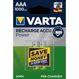 05703301402 VARTA RECHARGE ACCU Power (2STK.-BL.)1000mAh Micro AAA Produktbild