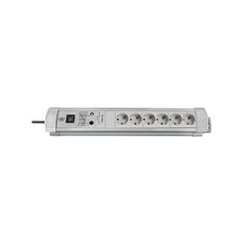 1.15655039.6 Brennenstuhl Tischverteiler 6-f. grau m. Überspannungsschutz Netzf. Produktbild