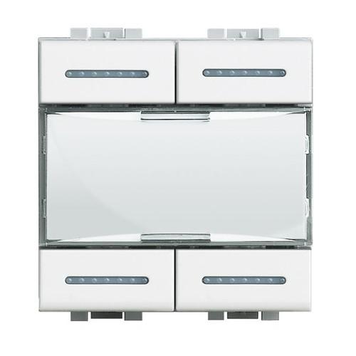 N4680 BTICINO SZENARIEN ABRUFTASTER LIGHT WEISS Produktbild Front View L