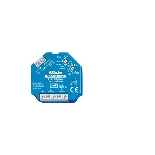 6110 0801 ELTAKO EUD61NPN-UC + LED 400W UNIVERSALDIMMER F. DOSENEINBAU Produktbild Front View L
