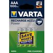 05703301404 VARTA RECHARGE ACCU Power (4STK.-BL.)1000mAh Micro AAA Produktbild