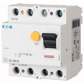 235410 EATON PFIM-40/4/003-MW FI-SCHUTZ SCH. 40A,4P BED.STOSSSTROMF.250A, 4TE Produktbild