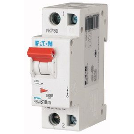 242268 EATON PLSM-C10/1N-MW LEITUNGSSCH. SCHALTER 10A 1P+N 1,5TE 10KA Produktbild