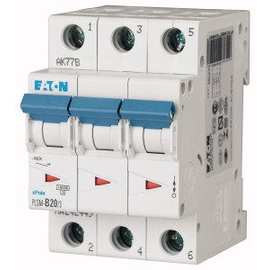 242475 EATON PLSM-C20/3-MW LEITUNGSSCH. SCHALTER 20A 3-POLIG 3TE 10KA Produktbild