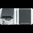 8220W JUNG SCHUKO-STECKDOSE 2-FACH FR AP IP44 Produktbild