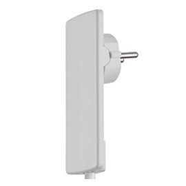 151000000300 Schulte EVOline Plug Flach- stecker, weiß, extra flach, ohne Kabel Produktbild
