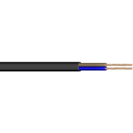 H03VVH2-F YMLFL 2X0,75 schw PVC-Schl fl Produktbild