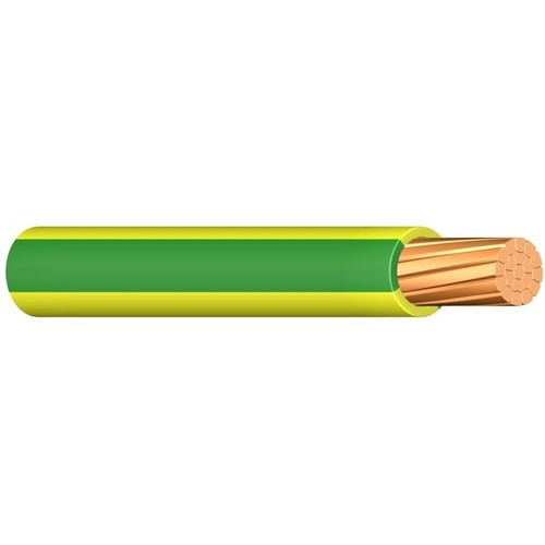 H07V-R YM 16 gelb-grün 100m Ring PVC-Aderleitung verdichtete Leiter Produktbild Front View L