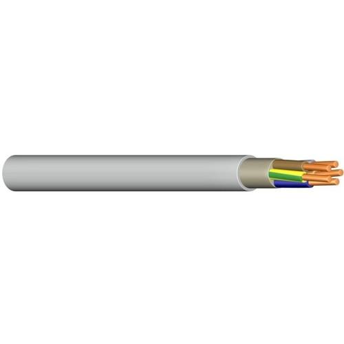 NYM-JZ 10X1,5 grau 50m Ring PVC-Mantelleitung VDE numm. Adern Produktbild Front View L