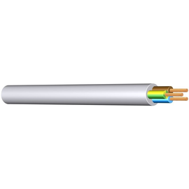 H05VV-F YMM-J 3G2,5 weiss PVC-Schlauchl Produktbild