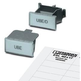 800310 Phönix UBE Klemmenmarkierung Kennz.v.Gruppen-E/UK oder E/U 40x17mm Produktbild