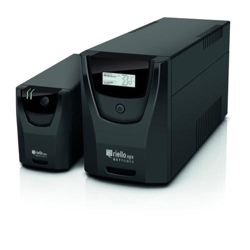155574 RIELLO NPW 800 LINE-INTERAKTIVE USV-ANLAGE 800VA 142X100X287 Produktbild Front View L