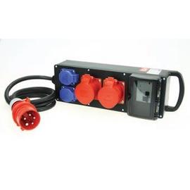 9441096 PC-Electric Mobil-Verteiler Gum. 2m 2xCEE5/32 2xSSD 2xLS 1/16, ohne FI Produktbild