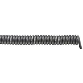 70002760 SPIRAL H07BQ-F 5G1,5/1500 PUR-Spiralkabel schwarz, dehnbar 4500mm Produktbild