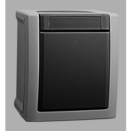 90591603 Viko Taster FR AP IP54 1S Pacific grau Produktbild