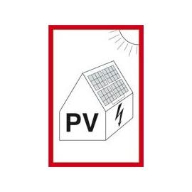 179282 HEIN Schild 148x105mm Folie Photovoltaikanlage Produktbild