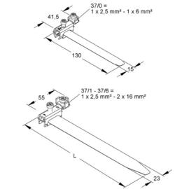 K37/1 KLEINHUIS Erdungsbandschellen 17,5 - 48mm Rohrdm. Produktbild