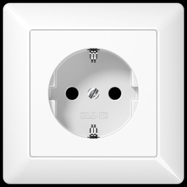 AS1520WW JUNG SCHUKO-STECKDOSE VOLLE PLATTE AS500 ALPINWEISS Produktbild