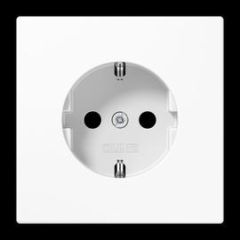 LS1520KIWW JUNG SCHUKO-STECKDOSE M. SHUTTER LS990 ALPINWEISS Produktbild