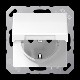 AS1520BFKLWW Jung Schuko-Steckdose 16A Serie AS mit Klappdeckel bruchsicher Produktbild