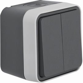 30753505 BERKER W.1 FR AP Serienschalter grau/lichtgrau matt Produktbild