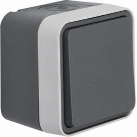 30763505 BERKER W.1 Wechselschalter grau/lichtgrau matt, FR AP Produktbild