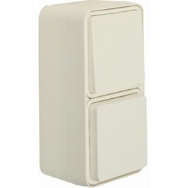 47803512 BERKER W.1 FR AP SSD+WSS- Kombination senkrecht, polarweiß matt Produktbild