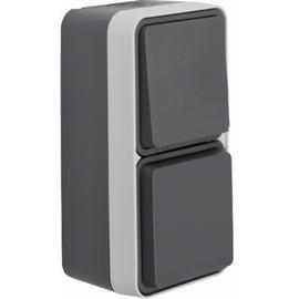 47803515 BERKER W.1 SSD+WECHSEL Kombination grau/lichtgrau matt, FR AP Produktbild