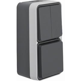 47903515 BERKER W.1 FR AP SSD+Seriensch. Kombination, senkrecht, grau/lichtgrau Produktbild