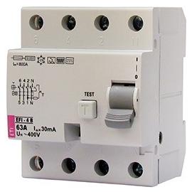 002062642 ETI FI-Schutzschalter EFI 4 25/4/003 Typ B 25A 30mA 1kHz Produktbild