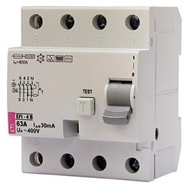 002062644 ETI FI-Schutzschalter EFI 4 63/4/003 Typ B 63A 30mA 1kHz Produktbild
