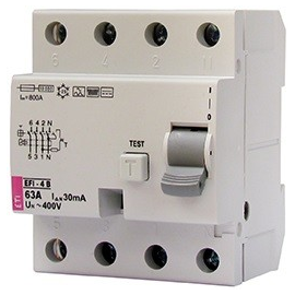 002064642 ETI FI-Schutzschalter EFI 4 B25/4/03 Typ B 25A 300mA 1kHz Produktbild