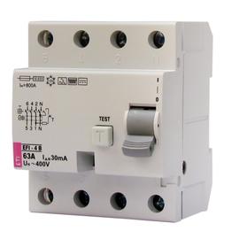 002064644 ETI FI-Schutzschalter EFI 4 B63/4/03 Typ B 63A 300mA 1kHz Produktbild
