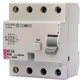002062647 ETI FI-Schutzschalter EFI 4 B+25/4/003 Typ B+ 25A 30mA 20kHz Produktbild