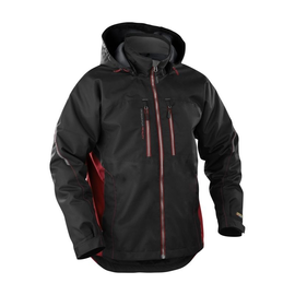 489019779956XL BLAKLÄDER Winterjacke wind & wasserdicht, schwarz/rot, Gr. XL Produktbild