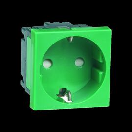 E4013 VERGOKAN Schuko-Steckdose 45mm 1-Fach grün Modul 45 Produktbild