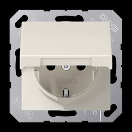 AS1520KL JUNG Schuko-Steckdose m.Deckel weiß, 1-fach, glänzend Produktbild