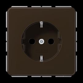 CD1520BFBR JUNG Schuko-Steckdose bruchsicher, braun, 1-fach Produktbild