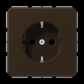 CD1520BFKIBR JUNG Schuko-Steckdose KI 1-fach, braun, glänzend Produktbild
