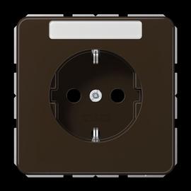 CD1520BFKINABR JUNG Schuko-Steckdose KI +Schriftfeld, 1-fach, braun, glänzend Produktbild