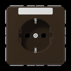 CD1520BFNABR JUNG Schuko-Steckdose +Schriftfeld, 1-fach, braun, glänzend Produktbild